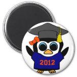 Marina de guerra del pingüino del chica y graduado imán para frigorífico