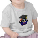 Marina de guerra del pingüino del chica y graduado camisetas