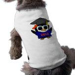 Marina de guerra del pingüino del chica y graduado camisetas de perro