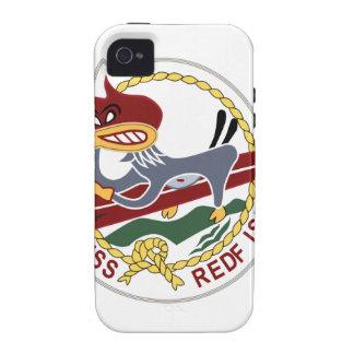 Marina de guerra del remiendo de los SALMONES de iPhone 4/4S Fundas