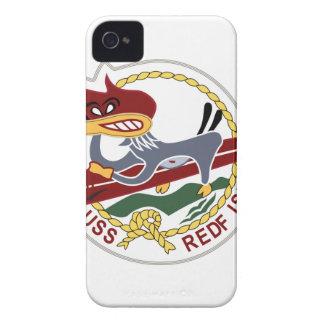 Marina de guerra del remiendo de los SALMONES de iPhone 4 Case-Mate Fundas