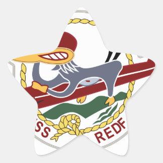 Marina de guerra del remiendo de los SALMONES de Calcomanías Forma De Estrellaes