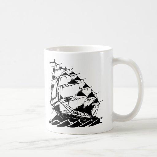 Marina de guerra del velero del tatuaje de Olds Sk Taza