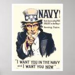 ¡Marina de guerra!  El tío Sam le está llamando Impresiones