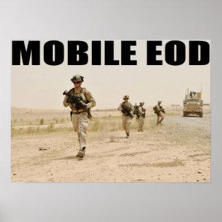 Marina de guerra EOD móvil Poster