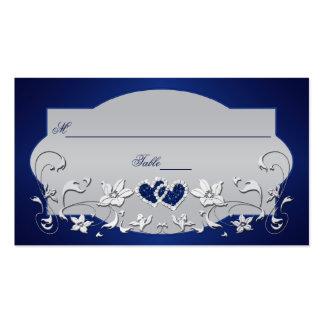Marina de guerra gris plateado floral tarjeta de plantillas de tarjeta de negocio
