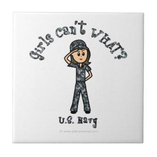 Marina de guerra ligera los E.E.U.U. Azulejo Cuadrado Pequeño