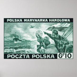 Marina de guerra mercantil polaca de WWII Poster