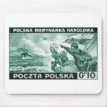 Marina de guerra mercantil polaca de WWII Tapetes De Ratones