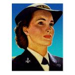 Marina de guerra militar retra de las ondas de las tarjetas postales