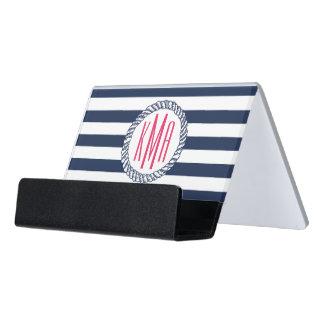 Marina de guerra náutica de muy buen gusto y caja de tarjetas de visita para escritorio