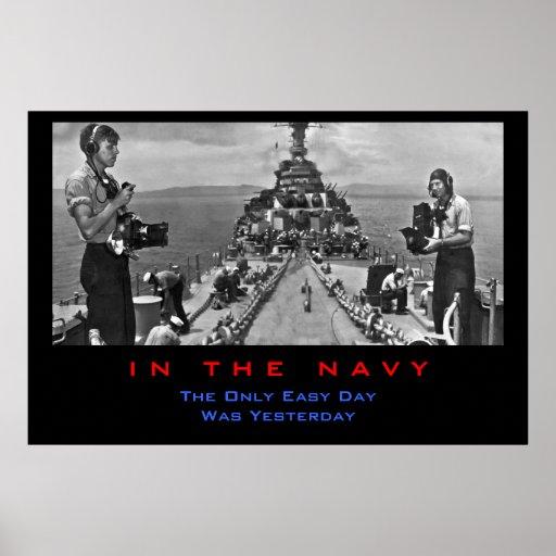 Marina de guerra Photogs en el trabajo Posters