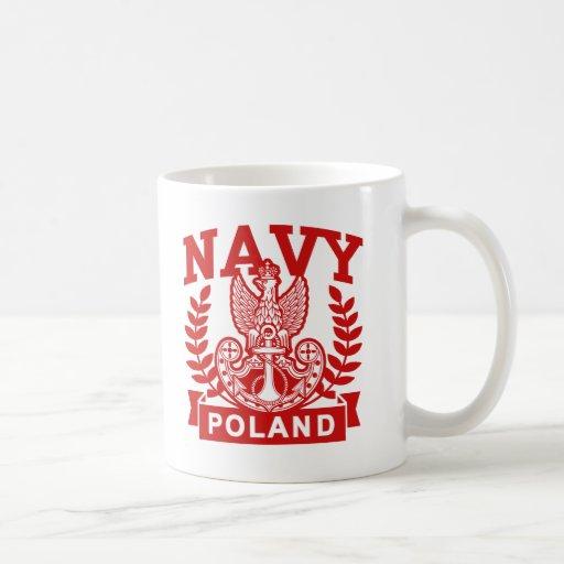 Marina de guerra polaca tazas