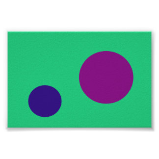 Marina de guerra púrpura verde póster