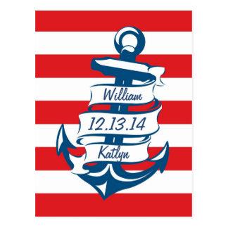 Marina de guerra/reserva náutica roja del tema la  postales