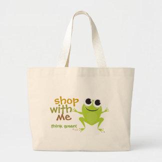 Marina de guerra reutilizable del bolso de compras bolsa de mano