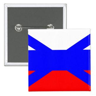 Marina de guerra rusa, bandera de Rusia Pin Cuadrado