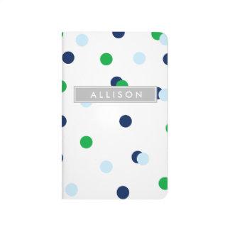 Marina de guerra, verde, Lt. Diario azul del Cuaderno Grapado