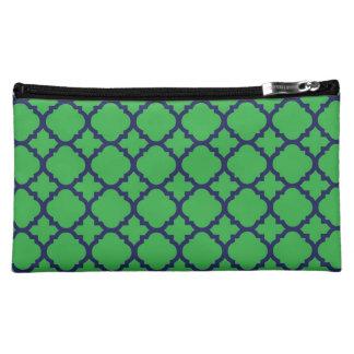 Marina de guerra y bolso verde del cosmético de Qu