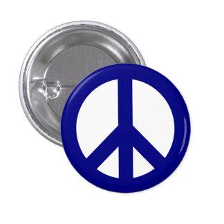 Marina de guerra y botón blanco del símbolo de paz pin