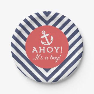 Marina de guerra y fiesta de bienvenida al bebé platos de papel