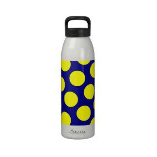 Marina de guerra y lunares amarillos botellas de beber