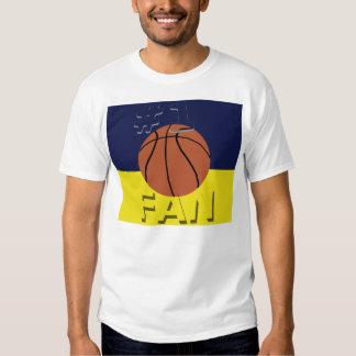Marina de guerra y maíz de la fan de baloncesto camisas