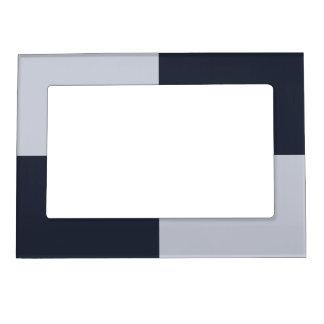 Marina de guerra y marco gris de los rectángulos marcos magneticos para fotos
