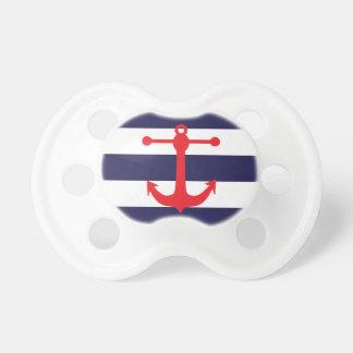 Marina de guerra y modelo náutico rojo chupetes de bebé
