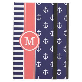 Marina de guerra y monograma náutico coralino de l