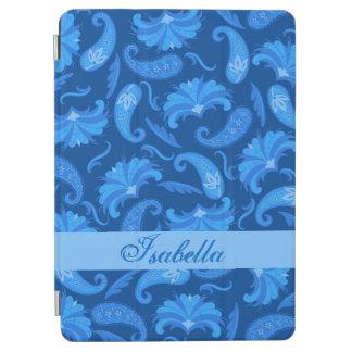 Marina de guerra y nombre azul de Paisley Cubierta De iPad Air