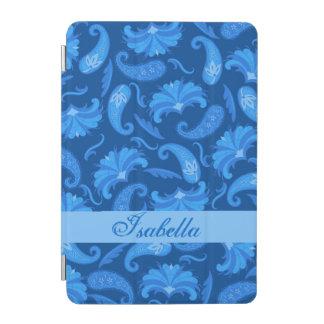 Marina de guerra y nombre azul de Paisley Cubierta De iPad Mini