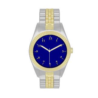 Marina de guerra y oro relojes de mano