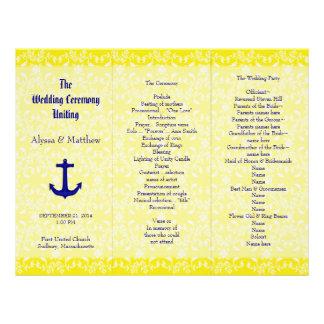 Marina de guerra y plantilla amarilla del programa plantillas de membrete