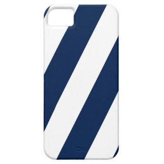 Marina de guerra y rayas blancas iPhone 5 Case-Mate carcasa