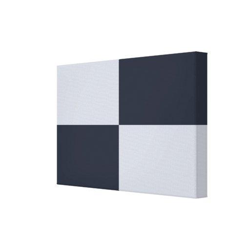 Marina de guerra y rectángulos grises impresión en lona estirada