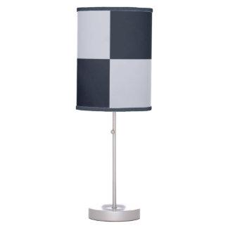 Marina de guerra y rectángulos grises lámpara de escritorio
