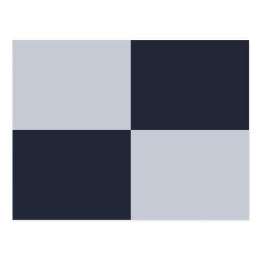 Marina de guerra y rectángulos grises postales