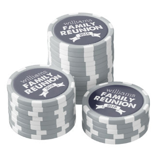 Marina de guerra y reunión de familia blanca fichas de póquer