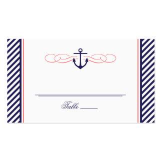 Marina de guerra y tarjeta náutica coralina del ac plantilla de tarjeta de visita
