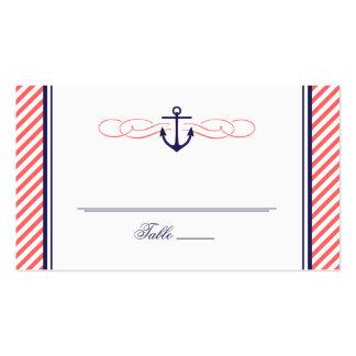 Marina de guerra y tarjeta náutica coralina del ac tarjetas personales