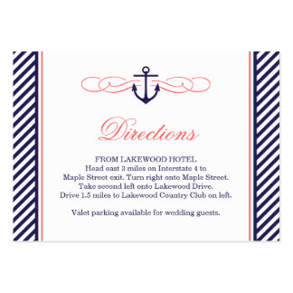 Marina de guerra y tarjeta náutica coralina del pa tarjeta de negocio