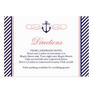 Marina de guerra y tarjeta náutica coralina del pa tarjetas de visita grandes