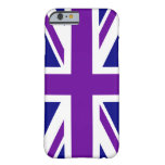 Marina de guerra y Union Jack púrpura Funda De iPhone 6 Barely There