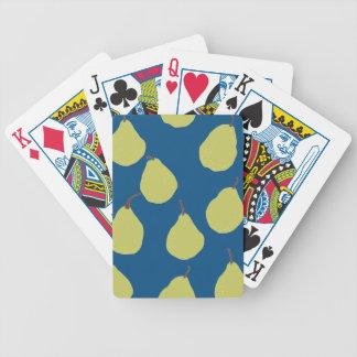 marina de guerra y verde de la pera baraja de cartas