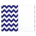 Marina de guerra y zigzag blanco cuaderno grapado