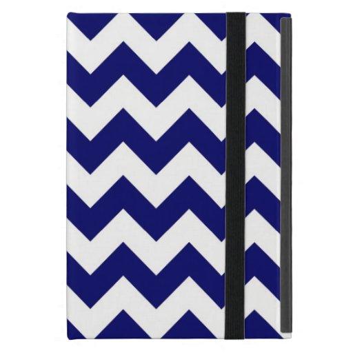 Marina de guerra y zigzag blanco iPad mini coberturas