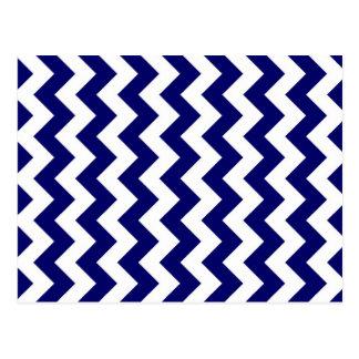 Marina de guerra y zigzag blanco tarjeta postal