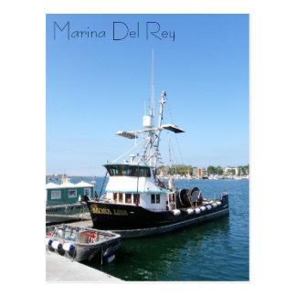 Marina Del Rey Boat Postcard! Postcard