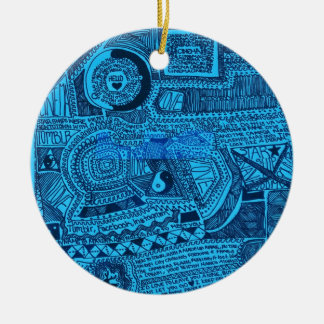 Marina Designs Good Karma Double-Sided Ceramic Round Christmas Ornament